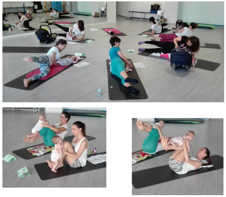 foto pilates mamma & bambino